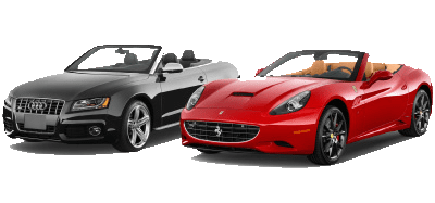 Some examples of cabrio and supercar models