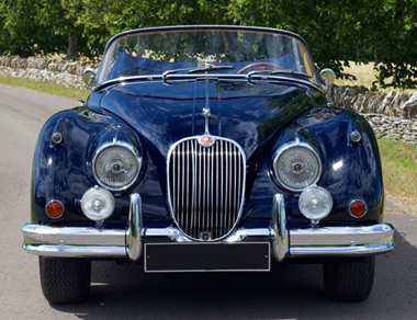 Jaguar XK 150 OTS for rent, find out more