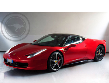 Ferrari 458 Italia (Red & Black) for rent, find out