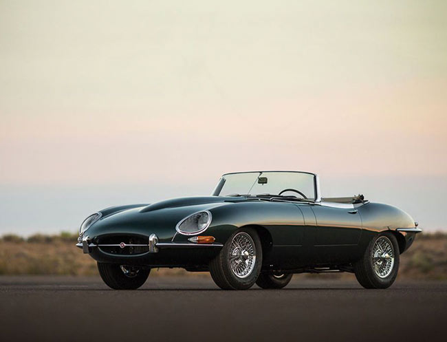 Rent a Jaguar E Type Roadster in Milan, Florence, Zurich, Como