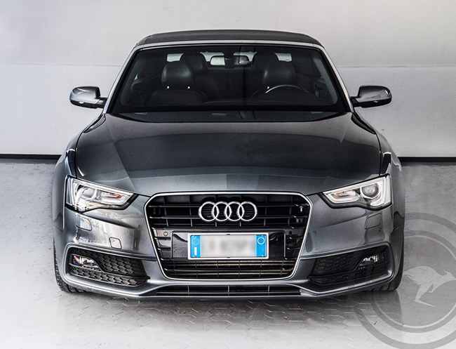 Rent a Audi A5 Cabriolet S-Line in Milan, Florence, Zurich, Como