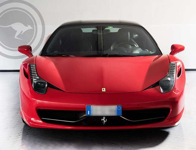 Rent a Ferrari 458 Italia (Red & Black) in Milan, Florence, Zurich, Como