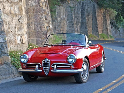 Alfa Rome Giulietta for rent in Milan, Florence, Como